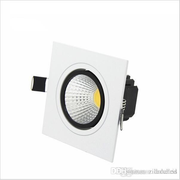 Kare Gömme LED Kısılabilir Downlight COB LED Aşağı Işıklar 7 W / 9 W / 12 W / 15 W LED Spot Dekorasyon Tavan Lambası AC85-265V