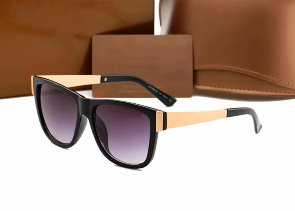 2021 Lunettes de soleil design de la marque Femmes Hommes Marque de bonne qualité Mode Métal Sunglasses surdimensionnés Vintage Femme Homme 6708 JSSSSE