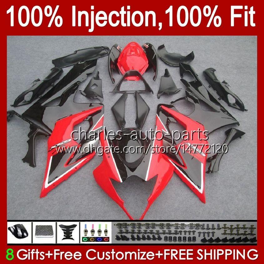 Corpo + cowl para suzuki fábrica vermelha gsxr-1000 gsxr 1000 05 06 carroçaria 11hc.22 GSX-R1000 GSXR1000 05 06 K5 GSX R1000 2005 2006 Kit de Feira