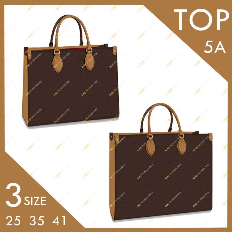 Ladies Fashion Casual Designer Top Alta Qualità Tote OnThego Mayfulls Borsa M45321 M45320 Colore Corrispondenza Borsa a tracolla di grandi dimensioni 3 Dimensioni 25/35 / 41 cm