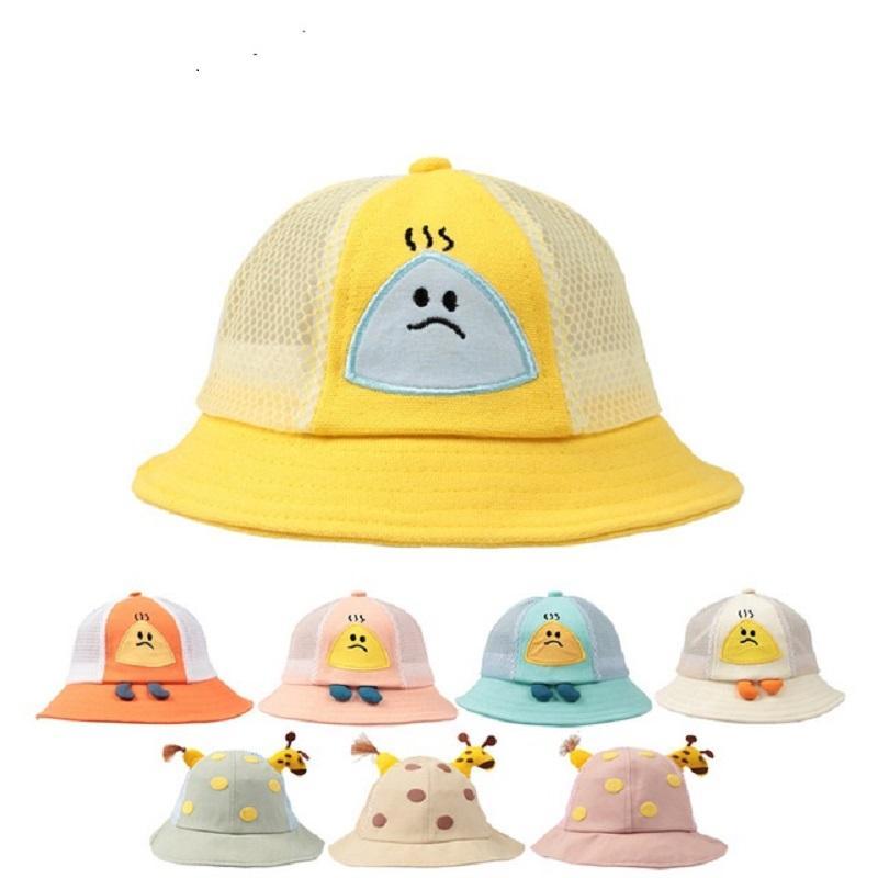 DHL الصيف الأطفال سترو سترو قبعة القليل من أشعة الشمس شاطئ قبعات لا تزعج قبعات الشمس طوي 8 أنماط 5 قطع من الأمل