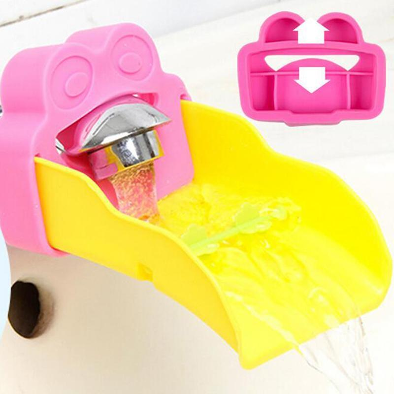 Conjunto acessório de banho Bonito sapo banheiro pia torneira extender chute crianças crianças guiando lavagem mãos convenientes para bebê ajudante