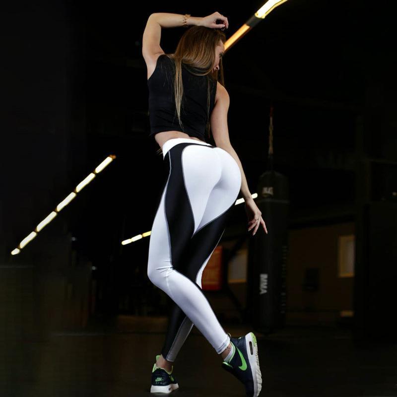 Roupas de fitness para mulheres atacado - legging trabalho treino para fora expresso vestuário coração sexy coração push up malha calça de trilha xhnbt3