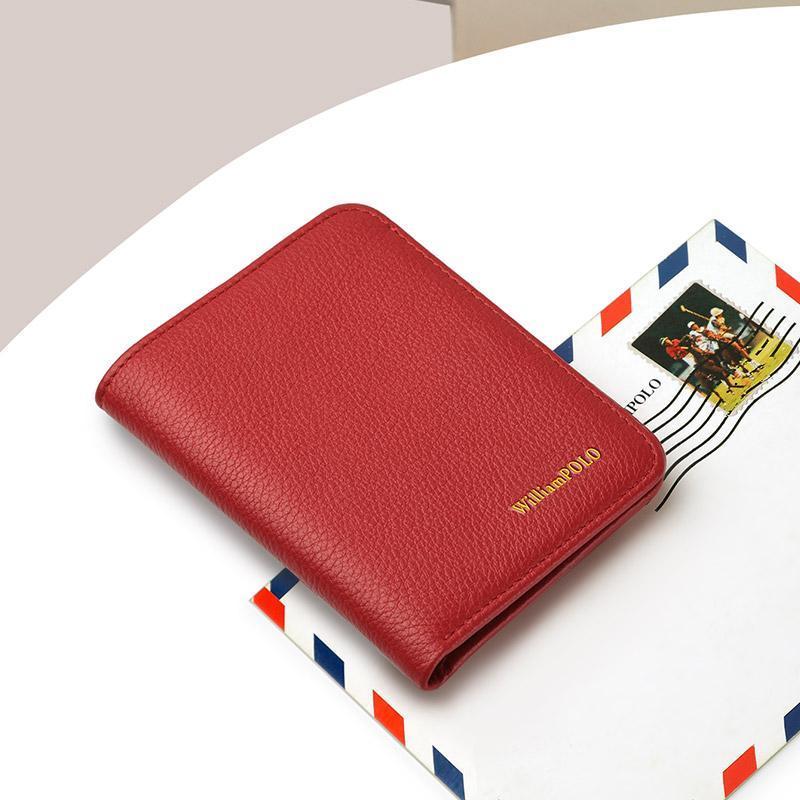 Brieftasche Frauen Luxus Leder Slim Slim Kleine Geldbörse Dünne Brieftasche Tasche Kartenhalter Business Freizeit Freizeit Mode Weiblich Gefaltet