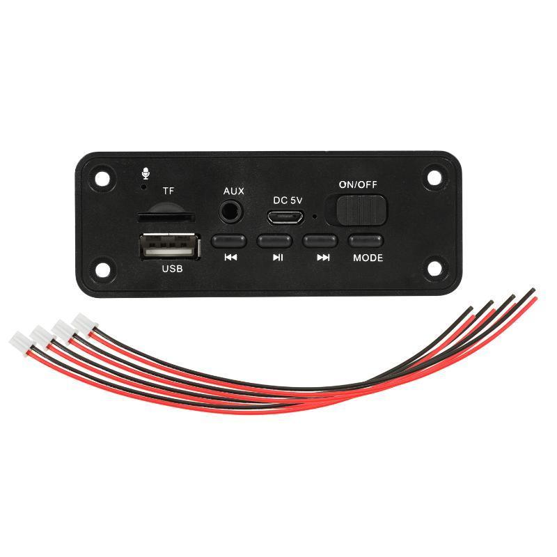 & MP4 Players Bluetooth 5.0 MP3 Player Decoder Board 2 X 3W Speaker Car FM Radio Module 5V TF USB AUX Audio For Handsfree