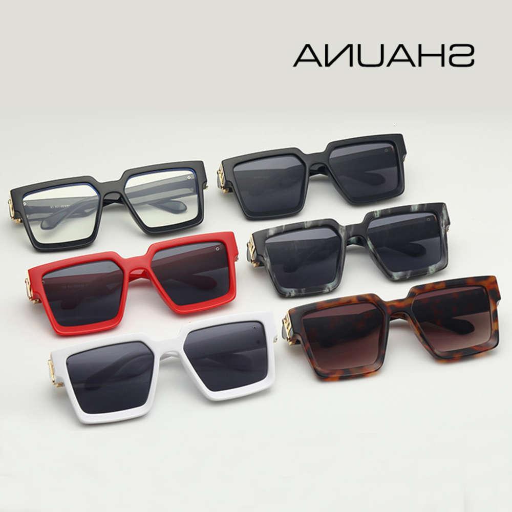 Shauna Retro Square Women en gafas de sol populares hombres UV400