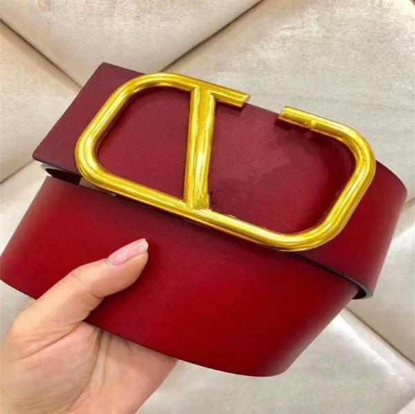 2022 Tasarımcı kadın moda yeni 7 cm geniş kemer, siyah, kırmızı vücut, altın kemer tokası sıcak toptan