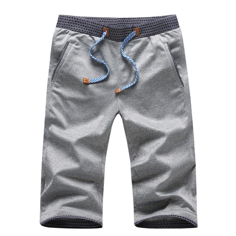 Pantaloncini Capris Summer Summer Coreano Casual Stretch Syl da uomo Ice Sottile Pantaloni sportivi Brand Brand