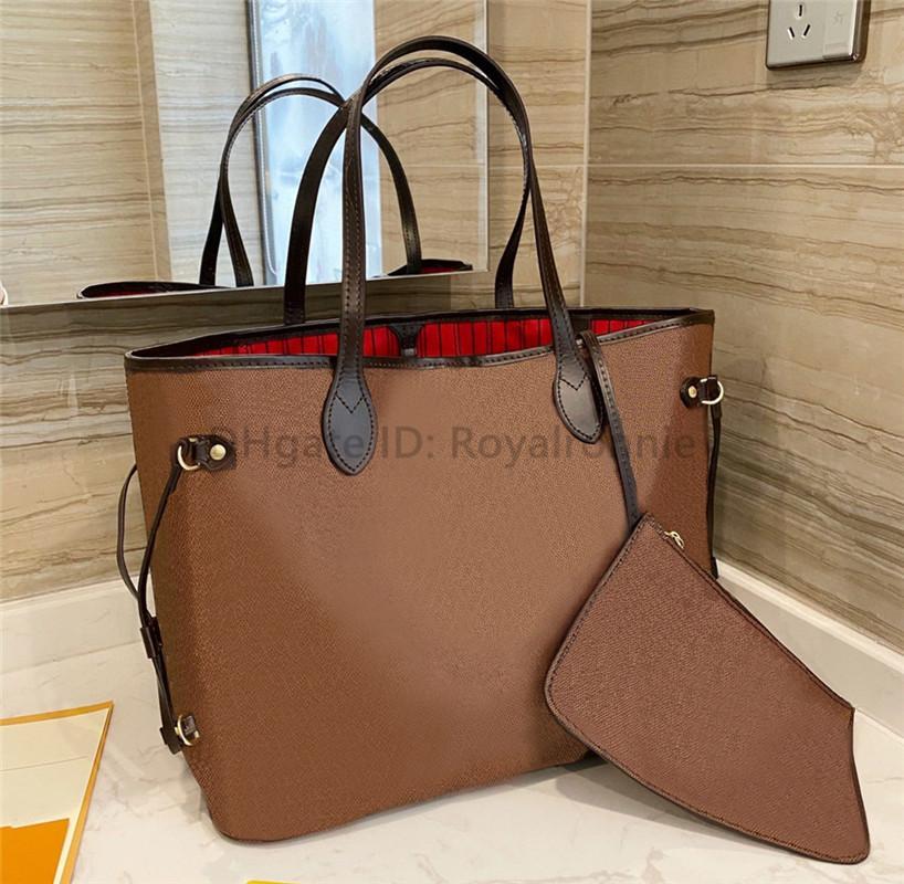Saco de compras de mulher clássico Alta qualidade bolsa de couro bolsa nova moda saco de ombro grade de alta qualidade saco das mulheres + bolsa pequena bolsas casuais