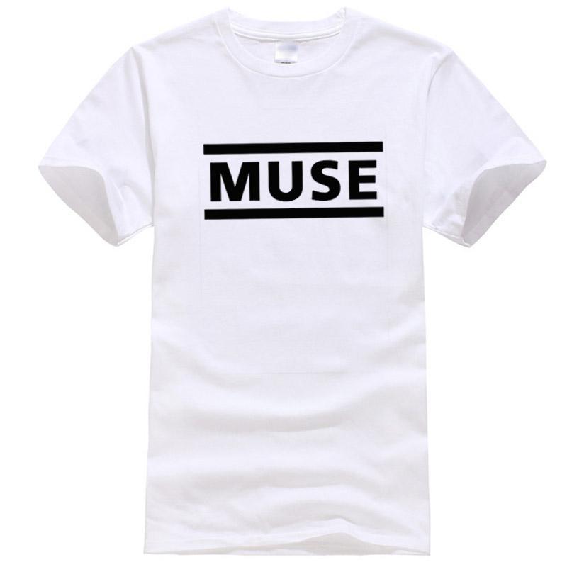 Xin Yi Mens Haute Qualité100% Coton Lettre de haute qualité T-shirt imprimé Muse Bande Rock T-shirt à manches courtes HOP HIP HOP HOP HOP HOP