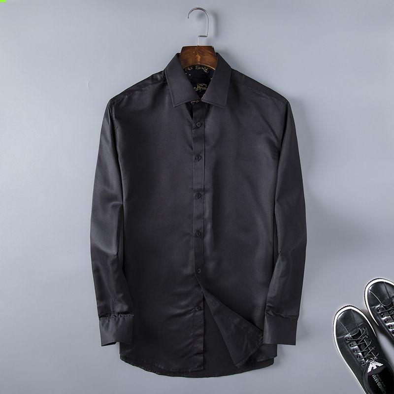 2021 뜨거운 미국의 비즈니스 브랜드 슬림 작은 꿀벌 인쇄, 남성 긴 소매 셔츠, 텐터 훅에 남성 레저, 남성 셔츠 흑백