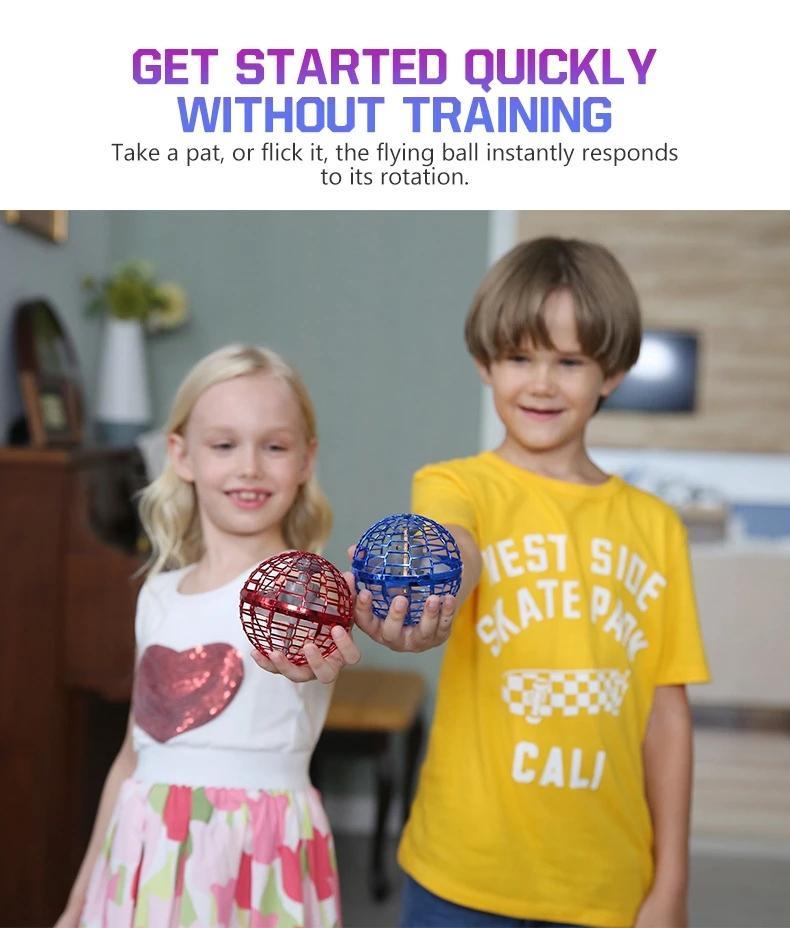 Flynova Pro Boomerang Soaring Spinner Ball con trucos sin fin Los juguetes voladores operados a mano Mini Drones Regalo Adultos para niños