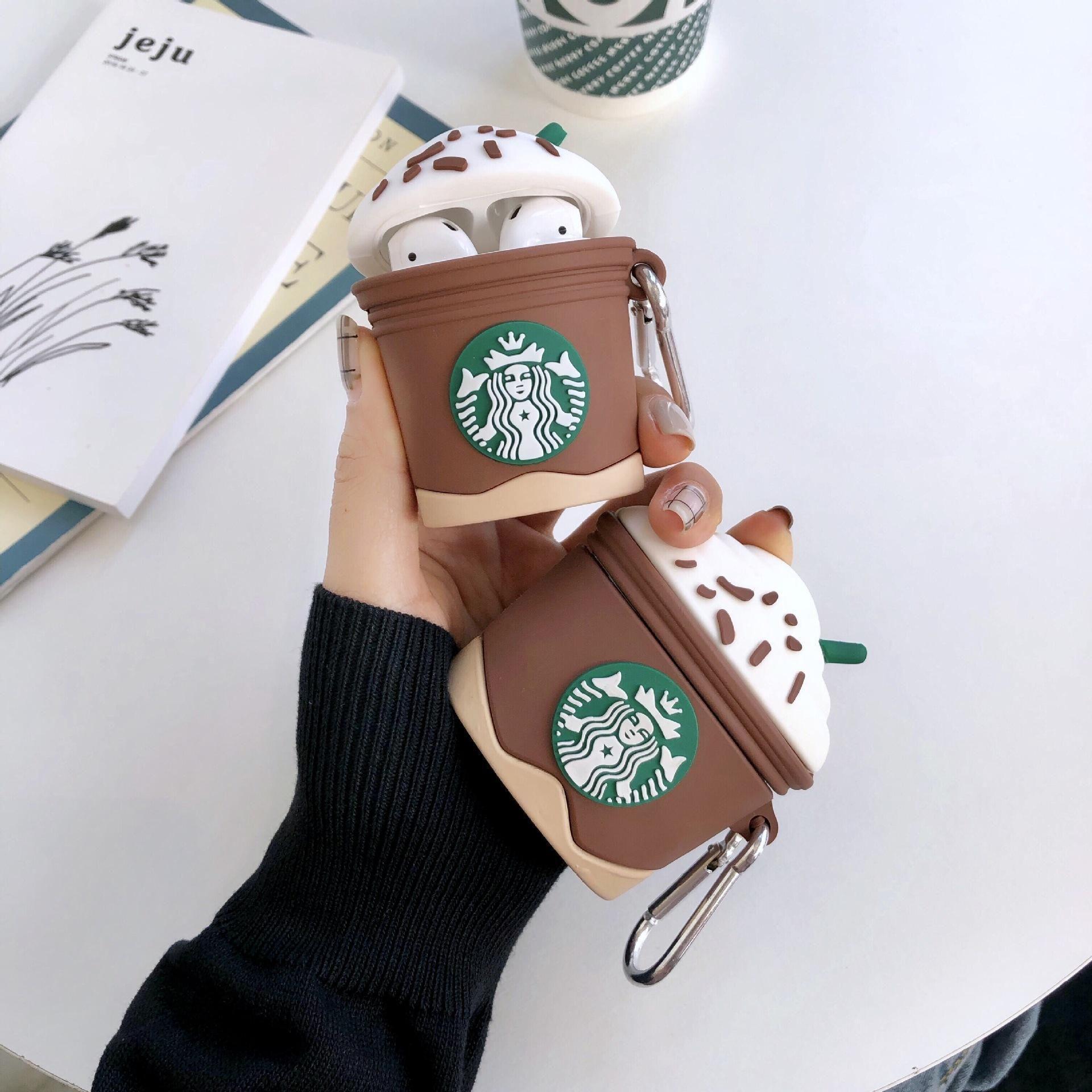 Для AirPod 3 чехол для CASE для Apple Air Pods Pro роскошный силиконовый милый 3D кофе вишня мороженого наушника для аэродромов