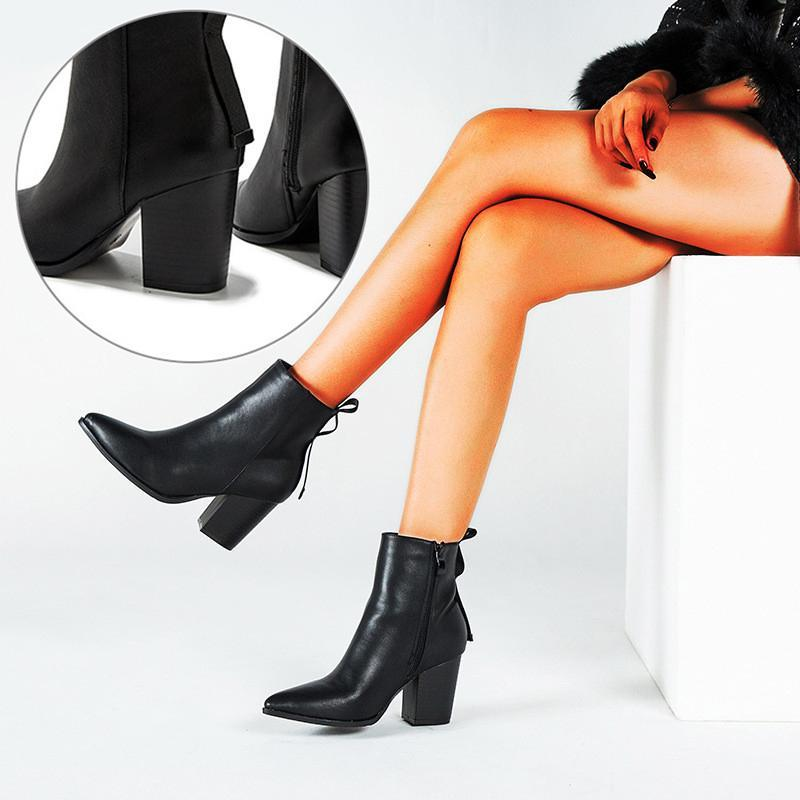 Bottes 2021 rouge à talons haute pointillés courtes féminines mode automne tube pour femmes