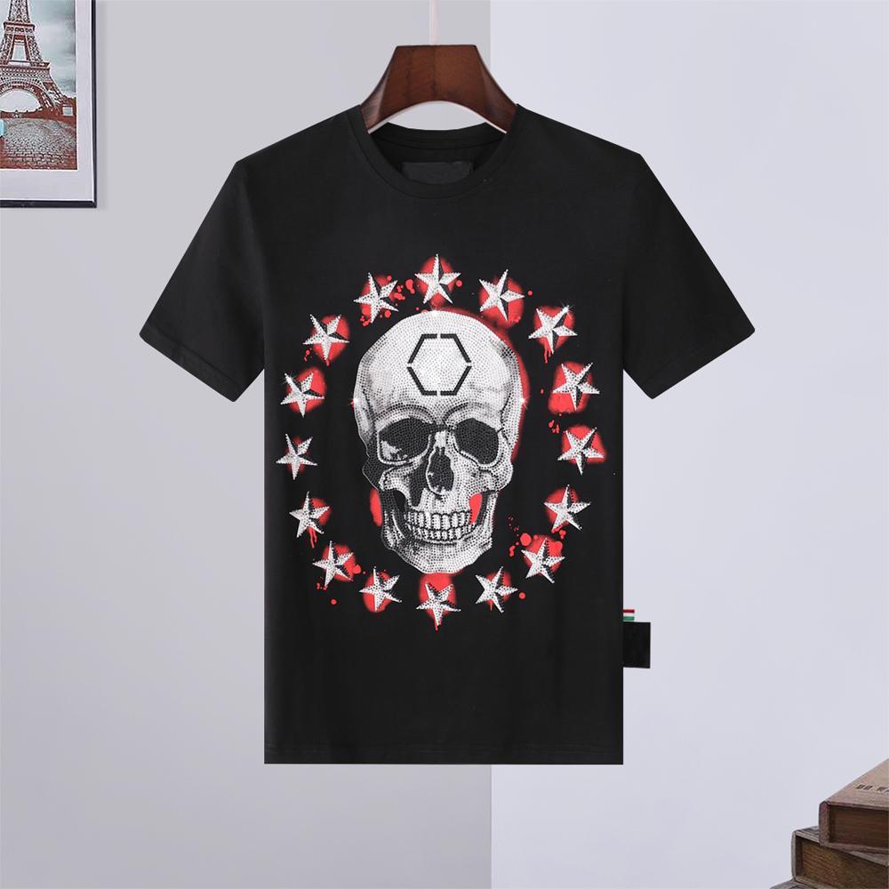 21ss Top Quality Hombres Mujeres Diseñador T SHIRTS Camisa de niebla llano de lujo Súper con capucha Abrigos Spring Manga corta Skull Diamond Tops Tops zapatos 12