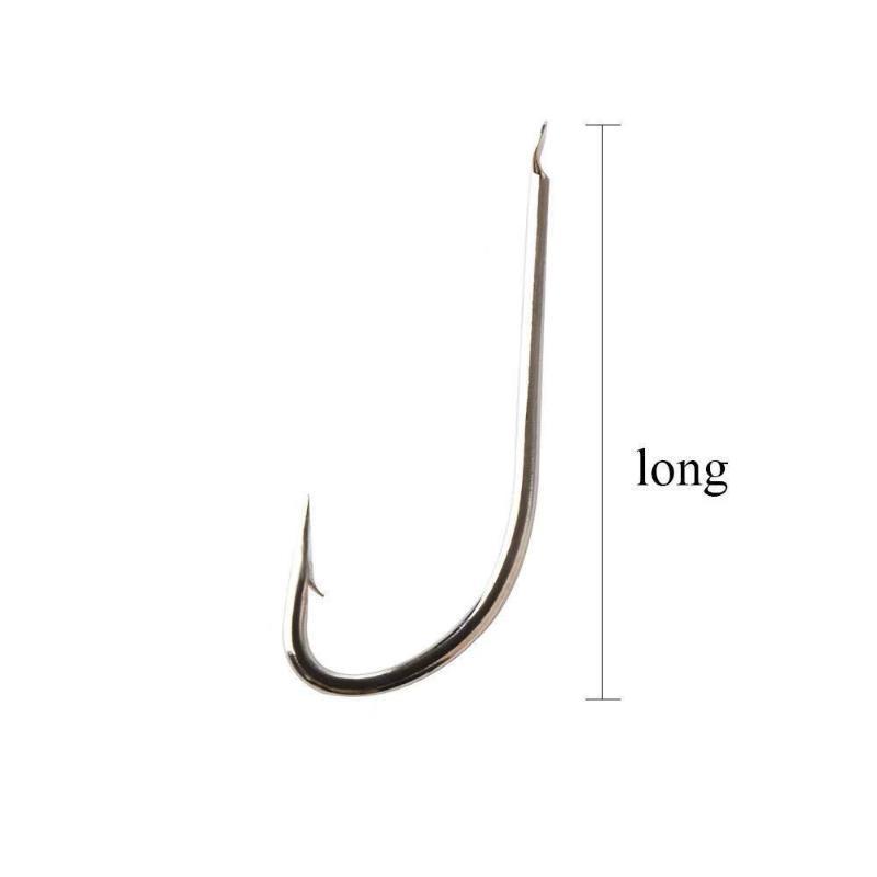 10 шт. Длинные рыбы Крюк-крючок плоский высокоуглеродный сталь колючий крюк размером 1 # -10 # Trash CARP Рыболовное снаряжение
