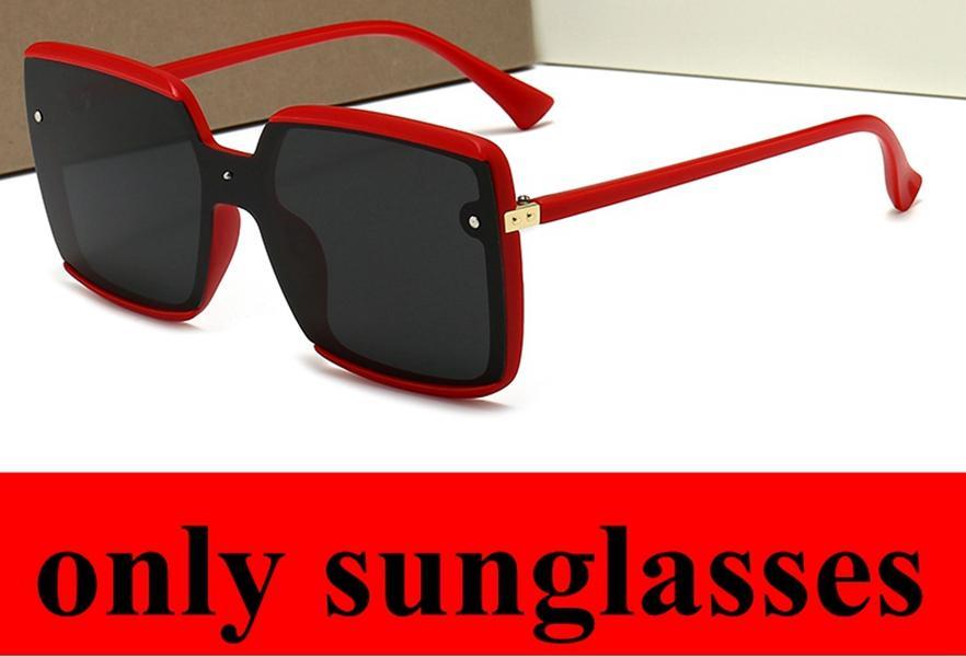 Óculos de sol de uma peça grande tamanho vermelho preto lente verde mulheres desenhador de verão estilos de rua sunglasses polarizado 5 cores óculos de sol