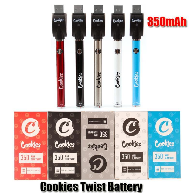 Cookies Twired аккумулятор SF SLIM 350 мАч Нижний 3.3-4.8 В догрей VV Vape Peen Battery USB Зарядное устройство для 510 толстого нефтяного картриджа