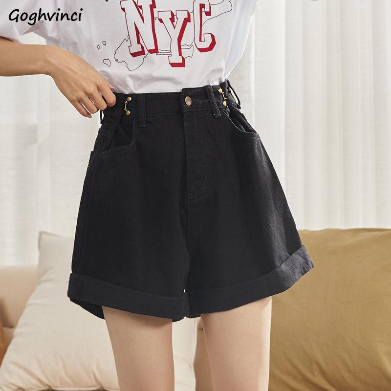 Shorts Femmes Denim Fit Roll-up Zoom High Tail All-Match Ulzzang Chic Losse Femme Populaire Loisirs Broek Légumes Soft