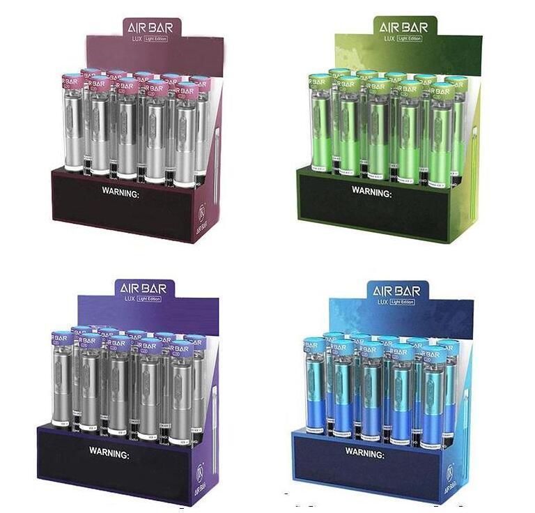 Barre d'air de haute qualité Lux Vaitable Vape Stylo Pods Dispositif 1000+ Puffs 2.7ml Cartouches Pods 500mAh Batterie de 500 mAh Vape de cigarette électronique pré-remplie