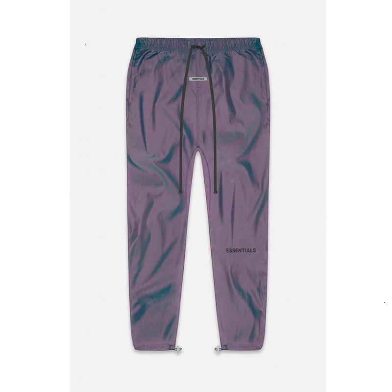 2021 New Half Zipper Fog Sweatpants Men Women 1:1 Best-quality Colorful Ribbon Essentials Trousers Pants NWZI