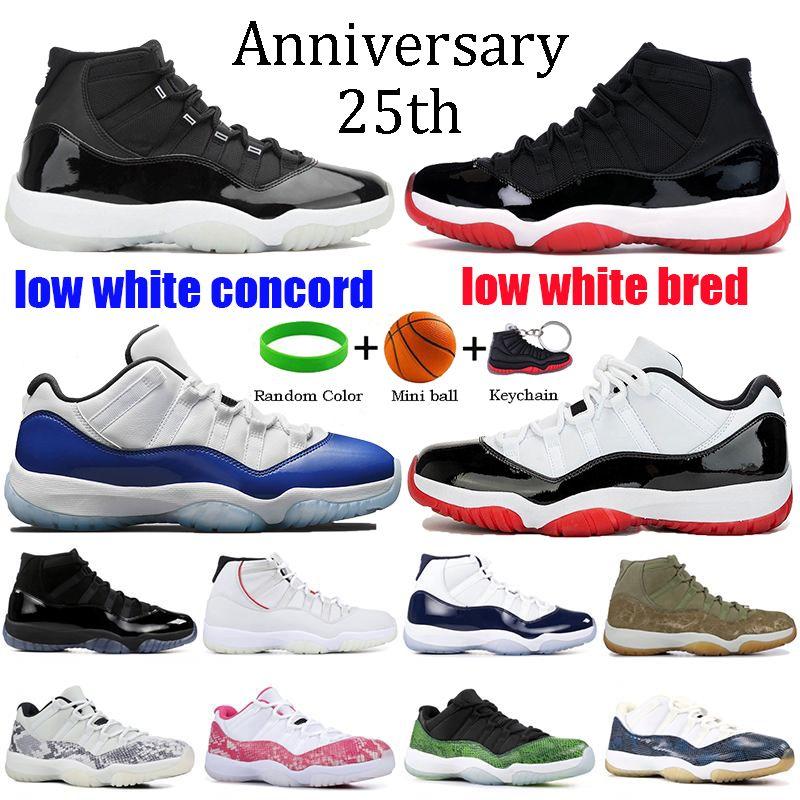 Nike Air Jordan Retro 11 Erkek 11 s Basketbol Ayakkabıları Yeni Concord 45 Platin Tonu Uzay Reçel Spor Salonu Kırmızı Win 96 XI Gibi Tasarımcı Sneakers Erkek Spor ayakkabı