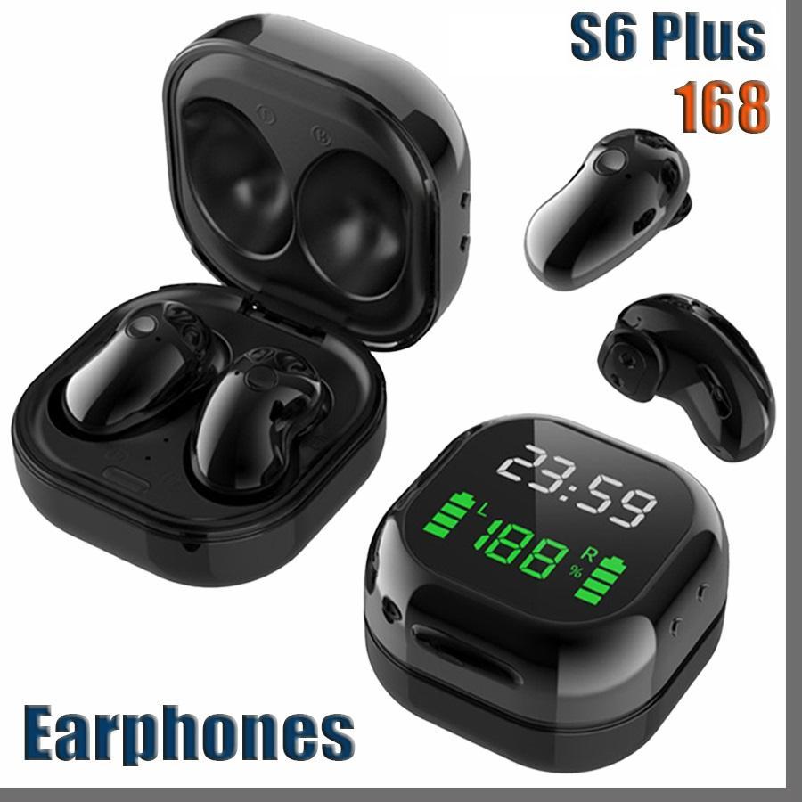 168D S6 Plus 무선 이어폰 편안한 미니 버튼 블루투스 이어폰 헤드폰 Hifi 사운드 Binaural Call Earpieces 9D Sport Headse