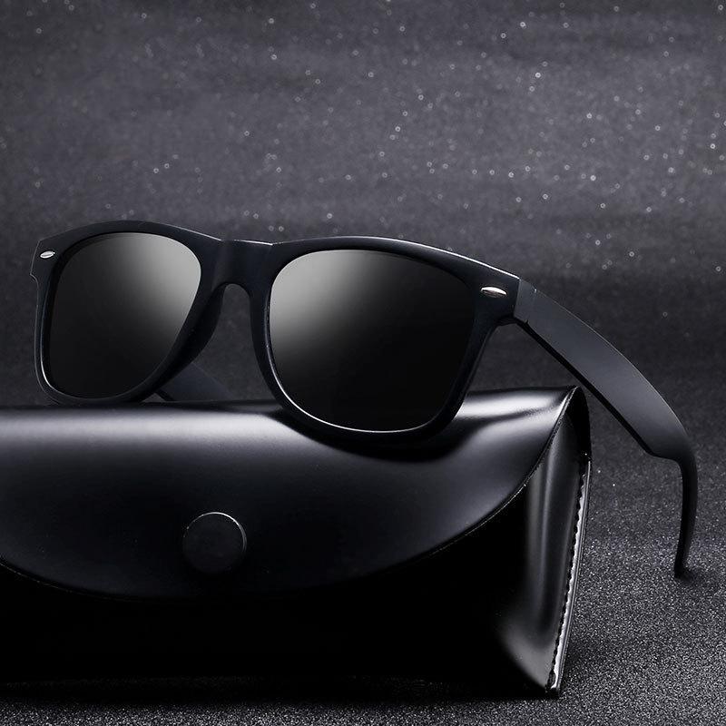 ZXRCICYYL 2021 UOMO POLARIZZATO Design antincendio Driving Occhiali da sole Occhiali da sole quadrati per alta qualità UV400 Oculos de Sol