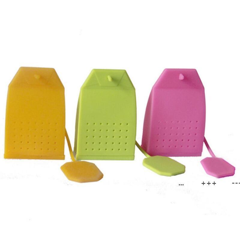 Nuevo bolso en forma de té Infusor de té popular estilo estilo silicona colador de té herbario especia filtro difusor cocina casa adelgazamiento té infusers fwe9684