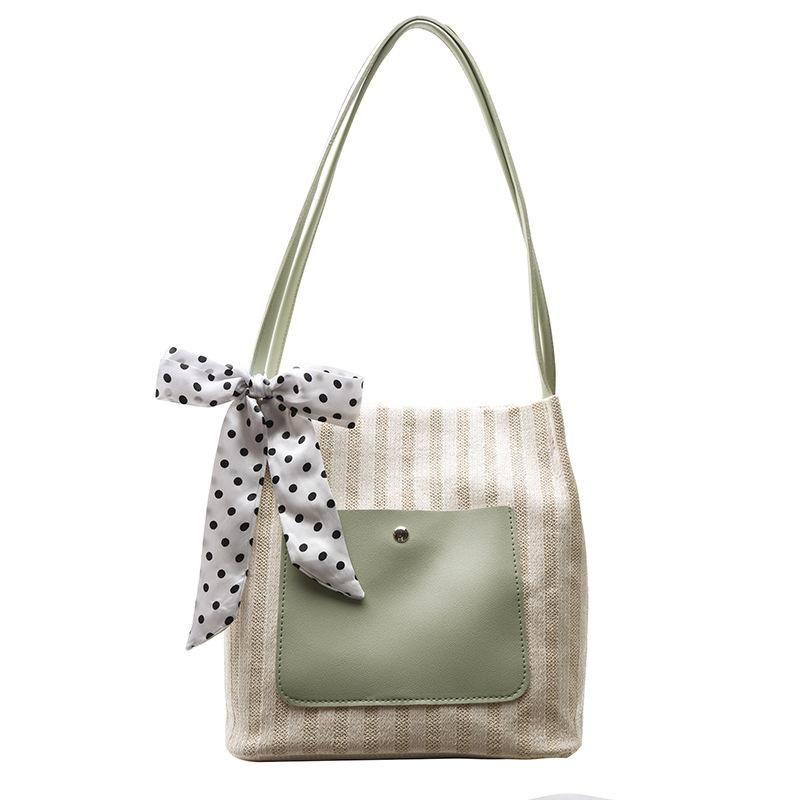 Frauen Strand für Hauptketten Tasche A mit Weave Dame Shopper Bag Black Sac 2021 Designer Handtasche grün stilvoller Schulter Stroh NCBWU