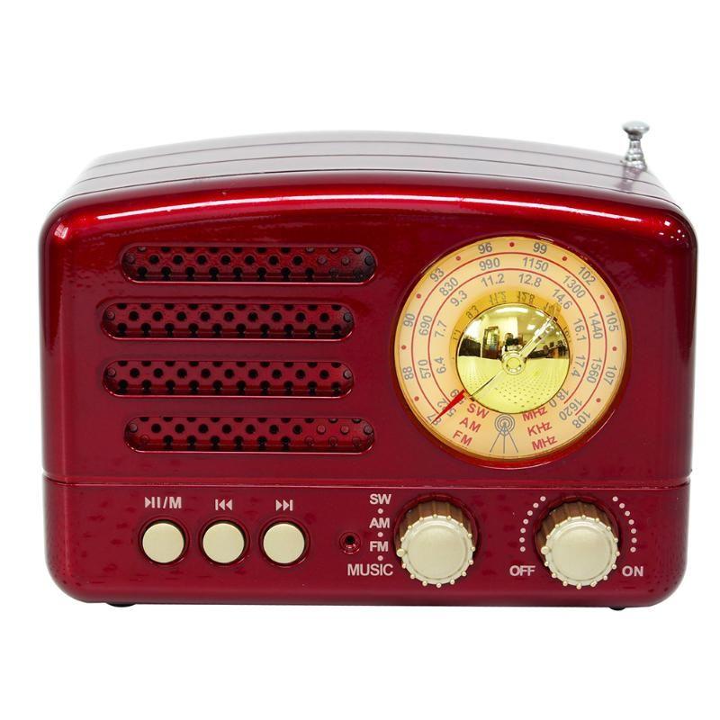 El Alıcısı Bluetooth USB Şarj FM AM TF Kart Yuvası Hoparlör Hafif Mini Manuel Anten Radyo ile Taşınabilir