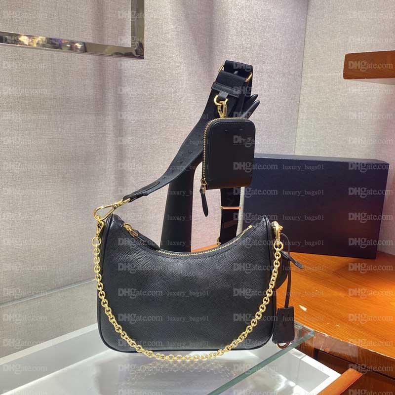 Yeniden Baskı 2005 Kadınlar Deri 2021 Luxurys Tasarımcılar Çanta Çanta Yüksek Kalite Lider El Çanta Tasarımcısı Satış Lady Çapraz Vücut Zincir Sikke Çanta Tote