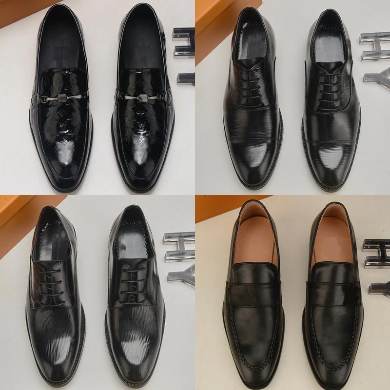 고품질 결혼식 공식 비즈니스 옥스포드 캐주얼 신발 정품 가죽 신발 남성용 드레스 디자이너 신발