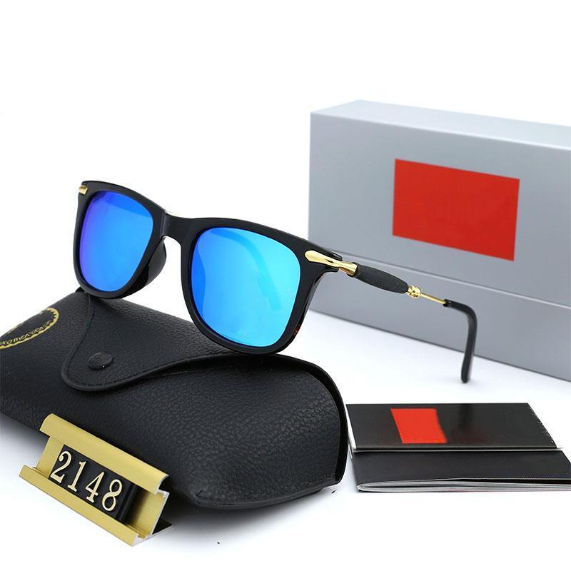 سبعة ألوان الأزياء الاستقطاب النظارات الكلاسيكية المصممين الفاخرة عالية الجودة الرجال النساء الطيار القيادة نظارات الشمس 2148