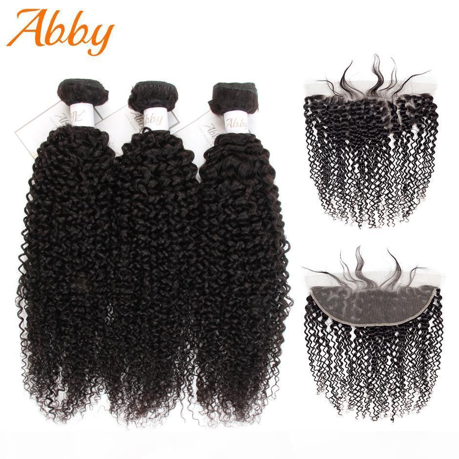 Монгольские странные кудрявые расслоения с замыканием Frontal Change Remy Pair Pair Pair Pair Chrie с 13x4 Frontal вьющиеся человеческие волосы для волос высокого качества