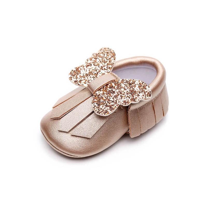 أحذية الرضع أحذية طفل الفتيات 0-1T أحذية الوليد شرابات الترتر الانحناء الأخفاف لينة أول المشي الأحذية طفل الأحذية B4099