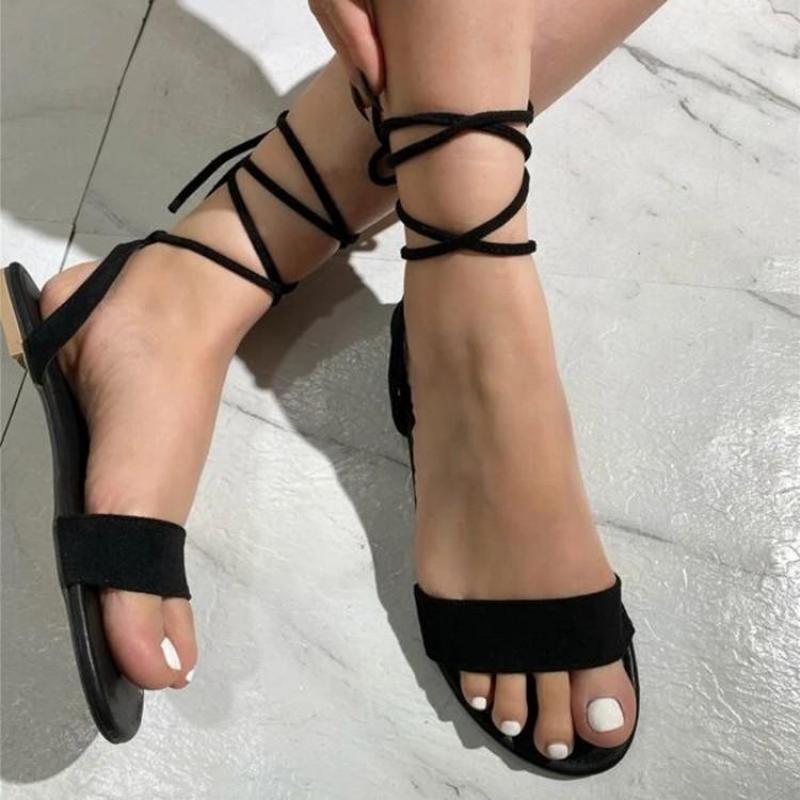 Сандалии Yuke Damies Open Toe Краткий стиль повседневный кросс-ремень женский сандал Plus Beach Beach Cool Летние квартиры