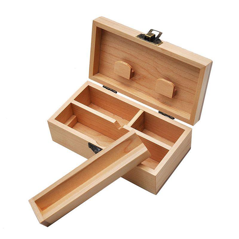 Caixa de presente de madeira da tubulação de madeira natural Câmara de presente do cigarro Caixas do cigarro do quadro de fumo dos quadrados do cigarro