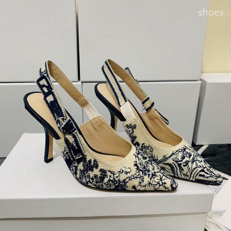 O novo 2021 vestido Shoes Party Office Universal High Saltos Moda Versátil Senhoras Sapatos de Luxo Designer Design NF5