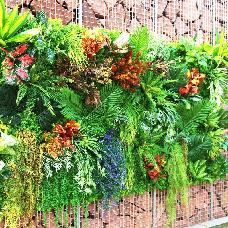 60 * 40 cm planta artificial césped bricolaje fondo de pared simulación de hierba hoja césped boda alfombra casera decoración hierba alfombra turf oficina