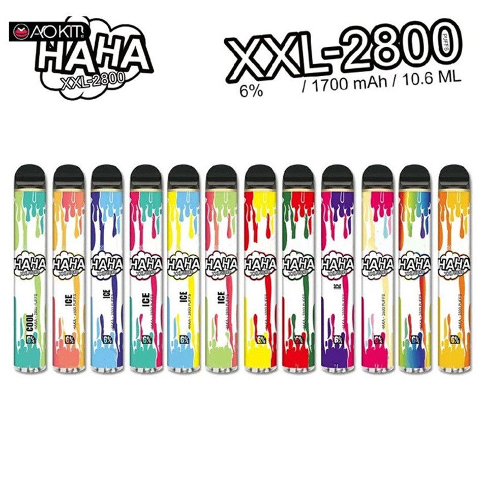 Аутентичные Haka XXL Одноразовые E-Cigarettes POD Устройство 2800 Средства 1700 мАч 10.8ML Префилированный Vape Peaf Paпы-барная система 100% Оригинал VS Bang Poy Max Flex