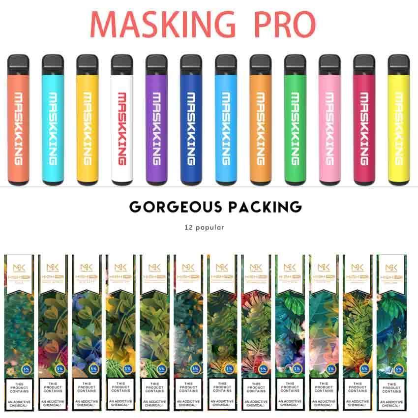 Maskking High GT Pro Einweg-Vape-Stift E-Zigaretten-Starter-Kit-Gerät 600mAh-Batterie 3,5ml Vorgefüllt 12 Farben Original-Dämpfe Großhandel