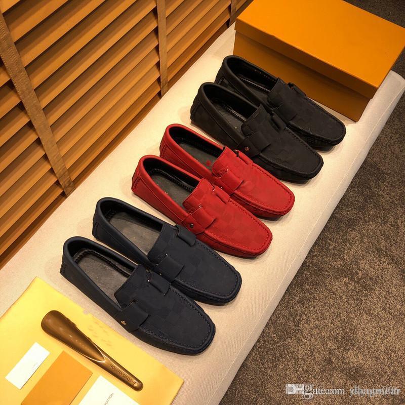 IDUZI Designer Мужская Натуральная Кожа Обувь Loafer Официальные Обувь Нежные Мужские Туристические Прогулки Обувь Повседневная Комфортная Обувь для Дыхания Для мужчин Размер 38-46