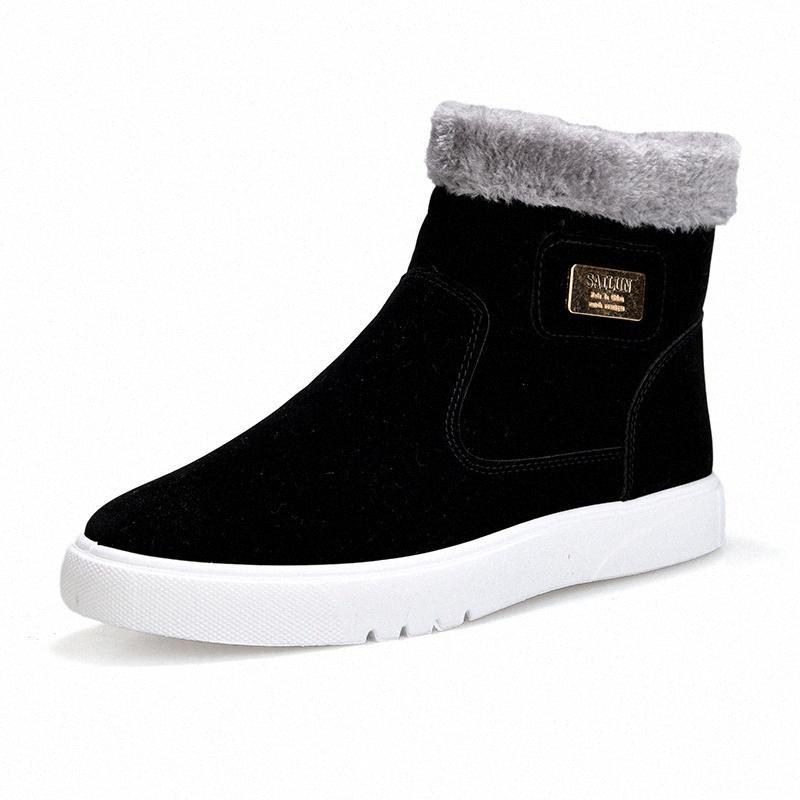 2019 Yeni Düz Topuk Erkekler Çizmeler Sıcak Ayakkabı Erkek Yuvarlak Kafa Katı Renk Moda Erkek Kış Rahat Ayakkabı Boyutu 39 44 Üzerinde Diz Çizmeleri Co J5KB #