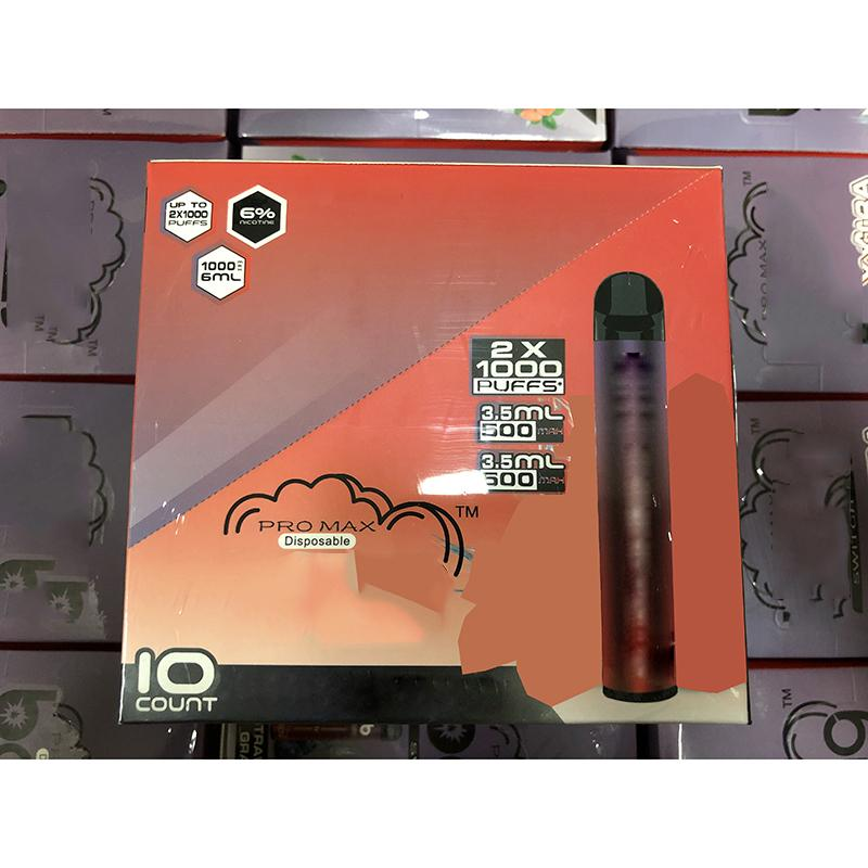 Penna in Max Switch PRO Kit dispositivo monouso XXL 2 Super 1 6ml PODS 2000 Labs 1100mAh Battery Puffs Double Bang per Puff XXTRA ZZY VAPE LQLA