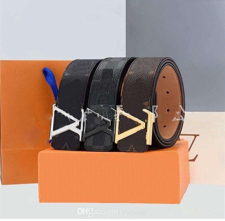 أحزمة العلامة التجارية الكلاسيكية m9608 الرجال المرأة مصمم حزام أزياء رجالي الشظية الأسود الذهبي الأعمال جلد طبيعي الذهب كبير مشبك المرأة عارضة ceinture مع مربع البرتقال