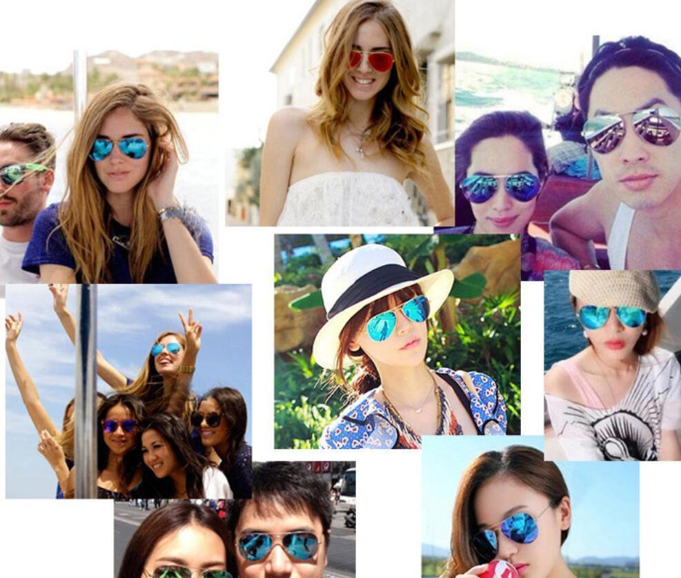 Designer Sonnenbrille Top Qualität Luftfahrt Pilot Sonnenbrille für Männer Frauen mit schwarzem oder braunem