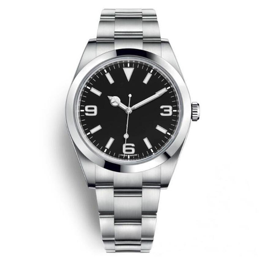 Sport Sport Watch Watch Explorer I Inox Inox Black Arabic Index 39mm 3 6 9 New Lume Dial Oyster Bracelet 214270 - Brand New