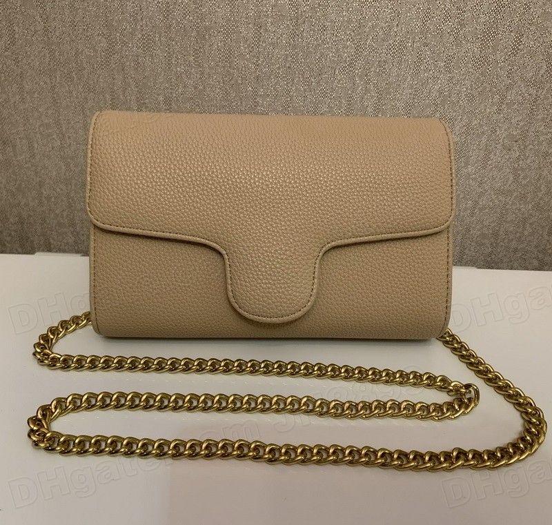 뜨거운 판매 최고 품질 여자 골드 체인 지갑 핸드백 엠보싱 패턴 어깨 가방 숙녀 Satchel 메신저 가방 토트 백 크로스 바디 가방