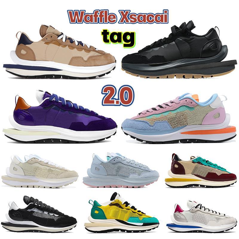 2021 Yeni Waffle XSACAI 2.0 Erkek Koşu Ayakkabıları Beyaz Duman Gri Üçlü Siyah Spor Fuşya Oyunu Kraliyet Erkekler Eğitmenler Sneakers ABD 7-11